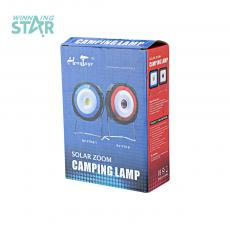 RY-T918-1 Solar Energy Camping Lamp with colored box usb interface