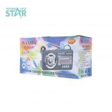 XB-593URT Radio with colored box FM/AM/SW/USB/TF/MP3