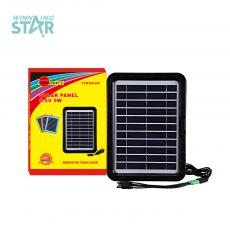 Hot Sale Mini Portable Solar Panel Rechargeable Battery with V3 / V8 / DC Sockets, 2 pcs of Cable Lines