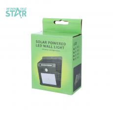 Solar Powered LED Wall Light with colored box 3.7V/0.55W 122*95*47MM