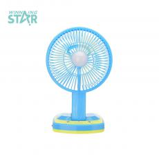 JY-5590 Rechargeable Fan With Round Plug Jack 800mah Battery Board USB Interface Bulb Mist Side Lampshade SMD5730*21