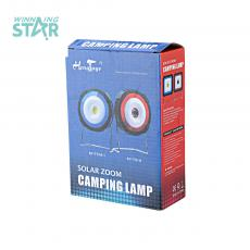 RY-T918 Solar Energy Camping Lamp with colored box usb interface