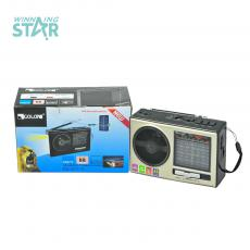 RX-377-S Hot Sale Rechargeable Radio with Aerial /AM/FM/SW1-7 Radio Band and USB/TF Music Player/LED /Solar Panel
