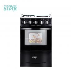 WST-K50-L01W  Winning Star Hot Sale Free Standing Electric Oven with 4 burner  2 Hotplate 2 Gas Burner 52 L Toaster Oven from Home