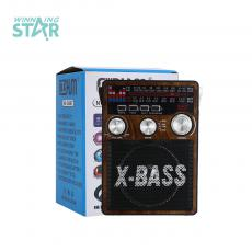 NS-206BT  Radio  Color Box  AM/FM/SW1-2/USB/SD/TF/AUX/LED  1200 mAh  14 *11*18cm