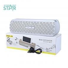 206 Hot Sale Rechargeable Mini Speaker with Bluetooth/TF/USB/FM Radio 1200 mAh Battery 52mm 3 ῼ5 W Speaker Horn /USB Charging Cord