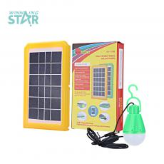 SA-7788 Mini Portalbe  Home Solar Lighting System with Circle Tube COB Led Light 3 Outputs 24000Mah Lithium Battery