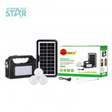 SA-7791 SUNAFRICA Hot Sale  3000 mAh High Capacity Home Solar Energy System with  Energy Host  9V 3.5W Solar Panel   3 Set  10 Pcs 5730 SMD Bulb 3 HubS AC Charing Cord