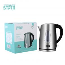 ST-6003 1.7L SS Electric Tea Kettle with Detachable washable filter overheat protection Double Crystalian Control Automatic Shut off Switch Anti-Dry Burning Protection Copper Cord