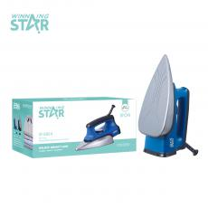 ST-5004 WINNING STAR  Hot Sale AC 220-240V 1100-1300 W Electric Dry Iron with Stainless Steel Base Telfon Solaplate 3*0.75*1.5M Power Cord BS Plug