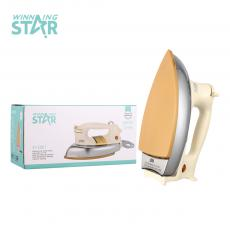 ST-501 WINNG STAR Hot sale  High Quality Electric iron with Aluminum Cermaic enameled Soleplate Weaving copper cord 1.6M AnBang  Temperature Controller  BS Plug