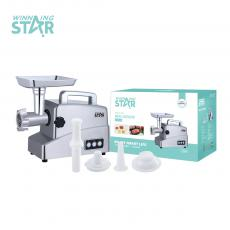 ST-5513 Winning Star Hot Sale Top Quality 1800-2000/Rated Power 700W  Meat Grinder with Reserve Function  Cast Aluminum Housing/ Vegetable Cutting/ sausage /Cookie/Tomator Juicer LED Indicator Light. VDE Plug for Home Restaurant Appliance