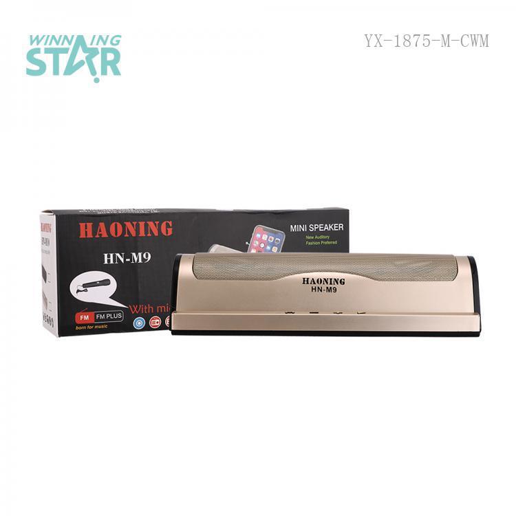 HN-M9  Sound  Color Box  BT/FM/USB/TF  1200 mAh  28*10.7*6.8cm