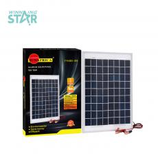 Hot Sale Mini  10W 18V Rechargeable  Polycrystallian Solar Panel with Alumimum Fram 2 Meter Power Cord Unit Size 360*240mm