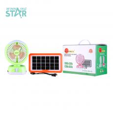 TYN355-999 Hot Sale Solar Engergy DC12-24V  Fan with 3.5W 6V  600mAh Solar Panel  USB Charging Cord 3 Pcs D Size Battery workable 3 Step Switch