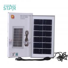 XS-002-A Hot Sale 6V 3.5W  Polysilicon  Solar  Panel with 5 Hub for DC 5.0  6101/V8/V3/ USD 260CM Charging Cord Aluminum Fram Size 250*140*17mm