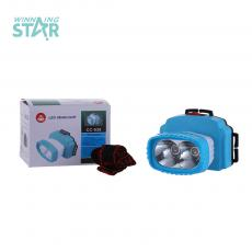 CC-938 New Style   High Power 2 W Head Lamp 3 Pc AA Cell workable with 2 pc Dayligh 2 Step Switch