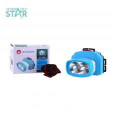 CC-938 New Style   High Power 2 W  Head Lamp 3 Pc AA Cell workable with 1 Pc Day-light Lamp 1 Pc Warm Light Lamp 2 Step Switch
