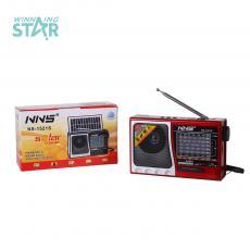 NS-1521S New Arival  6V 1W Solar Rechargeable Radio with FM/AM/SW 1-6 8 Bands  /Bluetooth/USB/TF /Flashight Light/1200mAh Lumen