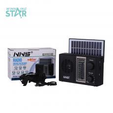 NS-Q36BTS New Arival  6V 1W Solar Rechargeable Radio with FM/AM/SW 1-6 8 Bands  /Bluetooth/USB/TF /Flashight Light/1200mAh Lumen