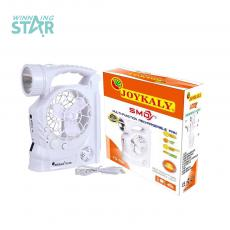 YG-708  New Arrival DC USB Rechargeable  Fans  with 1 W Led Light 36 Pc 2835  Side Lamp  2 Speed. USB  Charging Cord