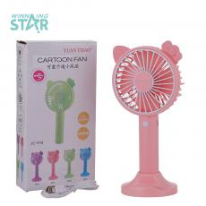 JC-618 New Arrival 120 mAh  USB Rechargeable  Mini Fan with 3 Speed. USB Charing Cord 4 Color Optional