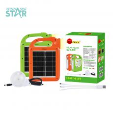 SA-7809 New Arrival  SUNAFRICA ABS Solar Power System with 5V 2.5W Ploycrystaliance Solar Panel 3W COB 1W  10 Pc 2835 SMD Tube 1 Pc 10 Pc 5730 SMD Led Bulb 3  Step Switch 2400mAh Lithium Battery 2.9 Meters Power Cord 3 Hubs  Hot Sale Whole