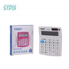 CT-7212C New Arrival 12 Large Display Electronic Calculator with 1 Pc AG10 Electronics Unit Size 12.6*10.1*2.3 Hotsale Wholesale in Africa