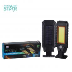HS-8011D New Arrival  Outdoor Solar Strap Type COB  Lighting street lamp wall mounted 2400 mAh Lithium Battery  Body Sensor 3 Step Switch Unit Size 27*10cm Hot Sale Wholesale in Africa
