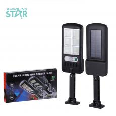 JY-120 New Arrival Solar Outdoor Street Wall Lamp Lighting with 6 Chest 120 Pcs 2835 SMD LED Beads Function of  Body Sensor 2400 mAh Lithium Battery 3 Step Switch. Unit Size 22*10CM, Hot Sale Wholesale in Africa