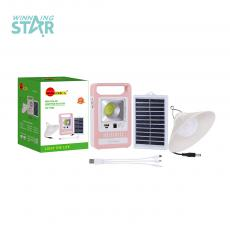 SA-7823 New Arrival Sun Africa Solar System with 5.5V/1.5W 14.8*9.5CM Solar Panel, 2 Steps Switch, USB/V8 Port, 2*18650 Lithium Battery 1200 mAh, Unit Size: 17*10.3*3.2 CM, 3M Wire Lamp,  3-1 Wire, Pink/White, Green/White, Hotsale Wholesale