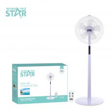 ST-4008 New Arrival Winning Star Remote Control Floor-Mounted Fan 16 Inch AC 220-240V, 50HZ, 45W, Timing:0.5-7.5H, ABS, 66*14mm Motor Copper with Overheat Protection, Net Cover 145 Steel Wire Diameter 420MM, AS Plastic 5 Leaves, Base Contro