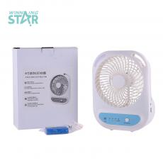 MG-506F New Arrival 6Inch AC/DC  USB Rechargeable Mini Fan with 3 Speeds 6 Blades50/60HZ, 220V-240V, LED Light, AC/DC 3.7V 1200 mAh Battery, ABS, Unit Size:  186*156*160mm,One Year Warranty. Hot Sale Wholesale in Africa.