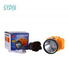 ZB-5128 New Arrival Rechargeable Head Light 1W 18650 1200 mAh, Lithium  Battery, 3 Steps Switch, USB, Green, Orange, Head Diameter: 5.9 CM. Hot Sale Wholesale in Africa.