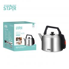 ST-6005 New Arrival Winning Star 5L Kettle AC 220V-240V, 50/60HZ, 1850-2200W, 201#Stainless Steel, Temperature Control, Pure Copper 3*0.75MM Wire. Unit Size: 24.5*24.5*28.3CM. VDE Plug. Hot Sale Wholesale in Africa.
