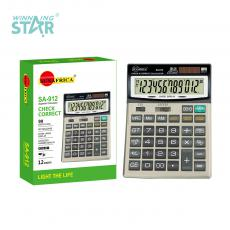 SA-912 New Arrival Sun Africa Solar Rechargeable 12 Digital Electric Calculator1*AA Battery Useable. Hot Sale Wholesale in Africa.