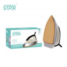 ST-5008 New Arrival Winning Star AC220-240V 50/60HZ 1000-1200W Elctric Iron with Copper Wire 3*0.75MM. High Temperature Resistant Handle. Iron Chrome 0.6MM, Gold Ceramic Paint Aluminum, Temperature Control. 3 Steps Switch. VDE Plug. Hot Sal