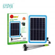 SA-4004 New Arrival Sun Africa 10W/5V Solar Panel with 2M Wire 5 in 1 USB,  DC5.0, V8/V3/G600, Unit Size: 398*260*22CM. Hot Sale Wholesale in Africa.