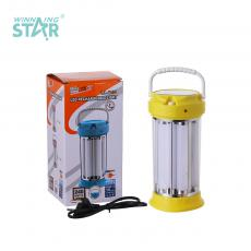 LL-7106S  New arrival Solar Portable Lamp with  8 Portable LED Tubes Solar Lamp 3 Position Button Switch 4V/2500 MHA Lead Acid Battery Round Plug Charging Cable 19 *9CM Product Blue Pink GreenYellow Hot Sale Wholesale in Africa