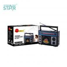 SA-8887 Sun Africa Radio with Antenna SD/USB/FM/AM/SW Black Gray Hot Sale Wholesale in Africa