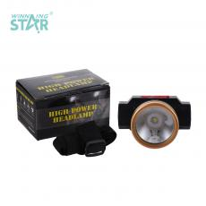 105 Head Lights with USB Charging Cable Button Switch 18650/1200 MA Lithuim Battery Flash Light 4.5CM Head Diameter Black Head Electroplated Gold Hot Sale Wholesale in Africa