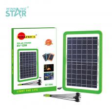 SA-4006 Sun Africa Polycrystalline Solar Panel with 2 M Black USB Cable DC 5.0/ V8/V3 12W/6V Nokia Small Head 39.8*26*2.2CM Product Size Black Blue Green Orange  Hot Sale Wholesale in Africa