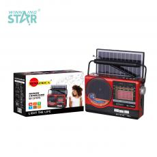 SA-117BTS New Arrival SUN AFRICA Portable Solar Radio with Bluetooth/USB/TF/AUX/DC5V/FM/AM/SW1-6 radio External Antenna LED Beads Solar Panel 18650 Lithium Battery 1 USB Charging Cable Use 2*AAA Battery Hot Sale Wholesale in Africa