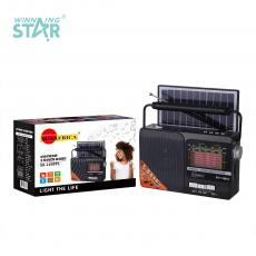 SA-119BTS New Arrival SUN AFRICA Portable Solar Radio with Bluetooth/USB/TF/AUX/DC5V/FM/AM/SW1-6 radio External Antenna LED Beads Solar Panel 18650 Lithium Battery 1 USB Charging Cable Use 2*AAA Battery Hot Sale Wholesale in Africa