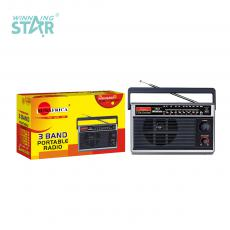 SA-8821 Sun Africa Radio with FM/MW/SW3 Band DC/3V(UM-1*2PCS) Portable External Antenna Product Size: 25*9*15CM Hot Sale Wholesale in Africa