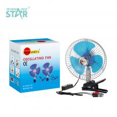 SOA-901 Solo Africa Fan with Electroplated Stainless Steel External 12V 8-inch Electric Fan Blue Plastic Fan Blade Clip  Switch 1.4 M Wire Small Motor Hot Sale Wholesale in Africa