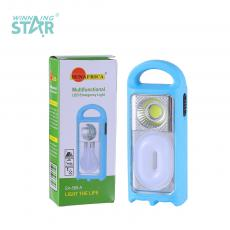 SA-588-B New Arrival SUN AFRICA Emergency Light with COB and 12 LEDs O Tube Using 3 5# Batteries 2 Step Push Switch Handle