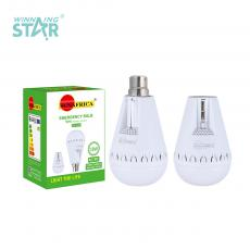 SA-673 New Arrival SUN AFRICA 220V 18W LED Bayonet 28 5730 Patch Lamp Beads Emergency Light with Scalable Head Built-in 18650 Lithium Battery 1200mAh White Lamp Body Opal Lampshade No Nuts Full Charging Time 2 Hours Emergency Working Time 4