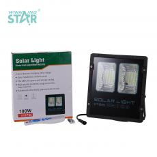 SZY-JC001 New Arrival 100W 10Ah LED Solar Project-Light Lamp with 10W 35*35cm Solar Panel COB*2 Light Control/Time Control/Intelligent Remote Control 2*AAA Bettery