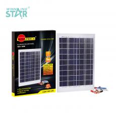 New Arrival SUN AFRICA 10W/18V Polycrystalline Aluminum Frame Solar Panel with 3 in 1 2m Cable Step-Down Transformer Phone Charging 2065 Gold Battery Clip